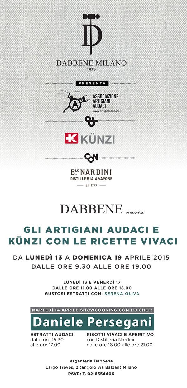 Dabbene presenta gli Artigiani Audaci e Kunzi con le ricette Vivaci