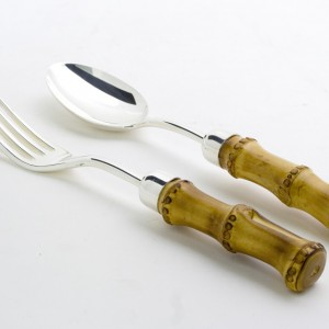 Vegetable fork and knife