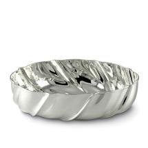 Ciotola ovale barocca silver plated